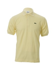 Lacoste Mens Yellow L1212 Sabayon Plain Polo Shirt