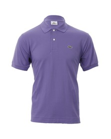 Lacoste Mens Purple L1212 Cristaux Plain Polo Shirt