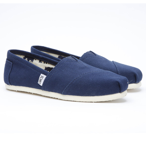 Toms Womens Blue Classic Canvas main image