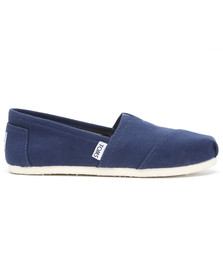 Toms Mens Blue Classic Canvas Espadrilles