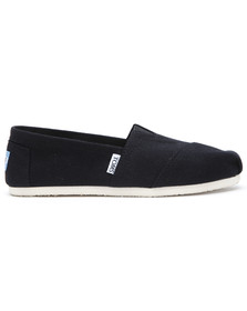 Toms Mens Black Classic Canvas Espadrilles