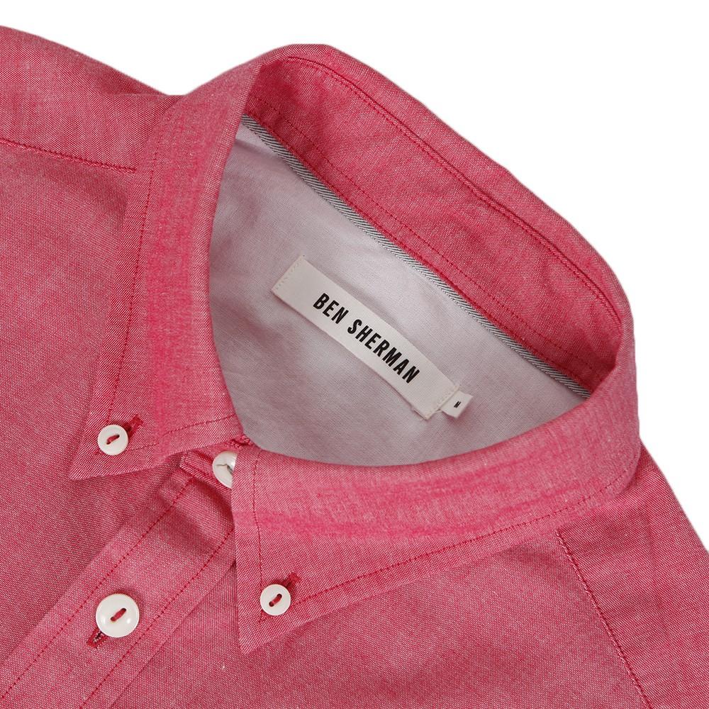 Ben Sherman MA00553 Slim Fit Red Oxford Shirt main image