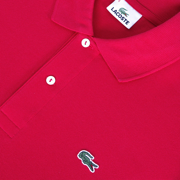 2f99cc53 Lacoste Mens Red L1212 Plain Polo Shirt main image