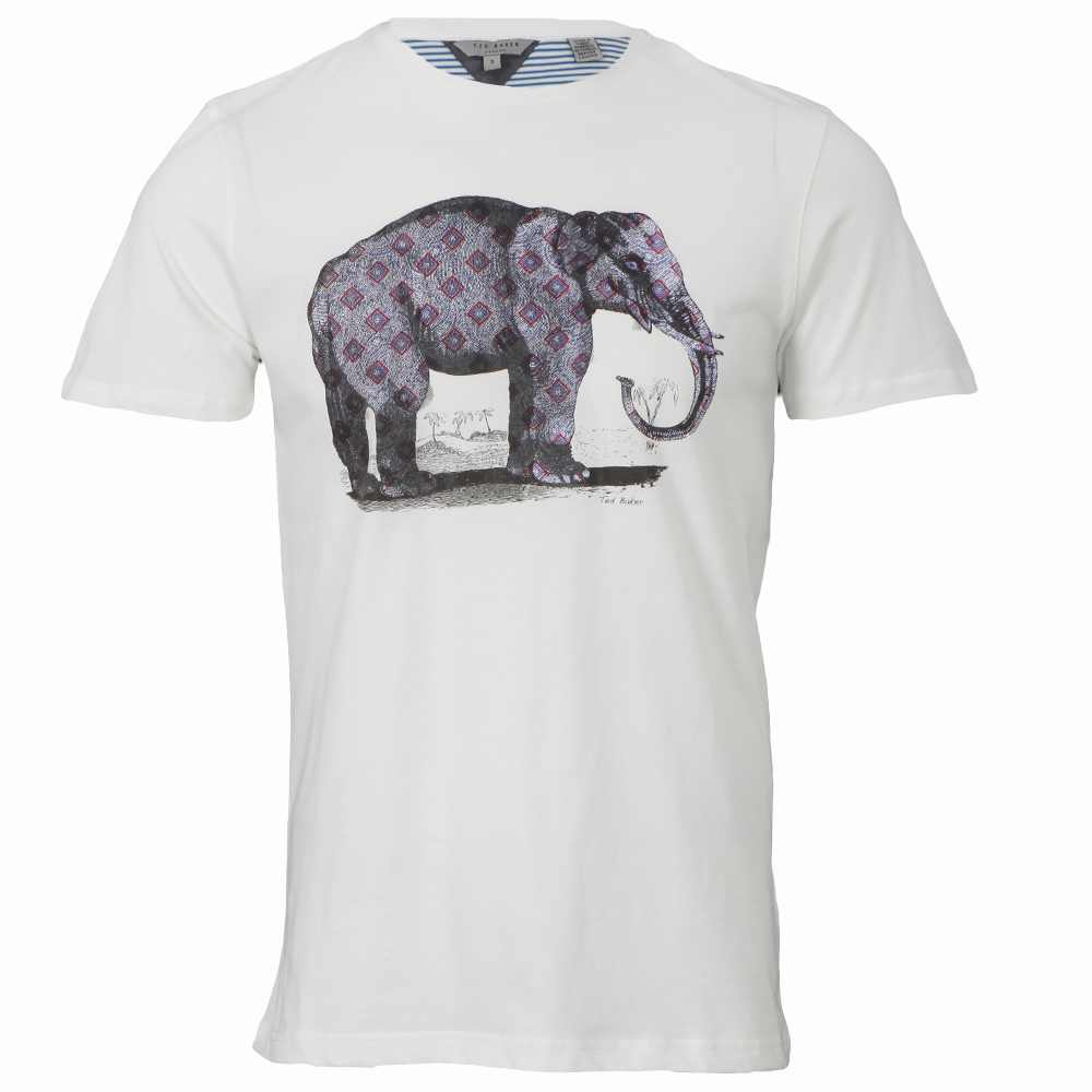 Ted baker elephant print t shirt oxygen clothing for T shirt printing stonecrest mall
