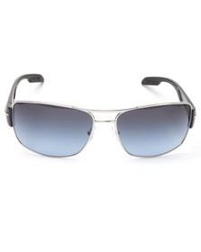 Prada Sport Mens Silver Prada Sport 53NS Silver/Navy Sunglasses