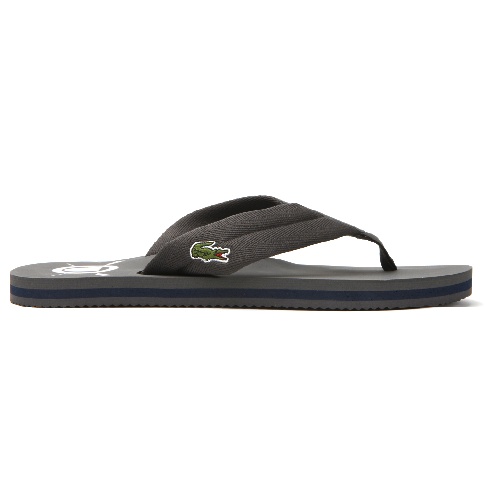 0cf0047ba780 Lacoste Mens Grey Lacoste Randle Dark Grey Flip Flop
