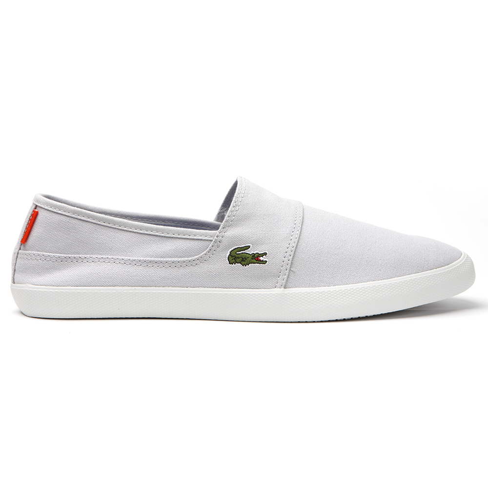 f884d6e33 Lacoste Marice Light Grey Canvas Trainer main image