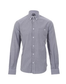 Armani Jeans Mens Blue 06C04 Gingham Shirt