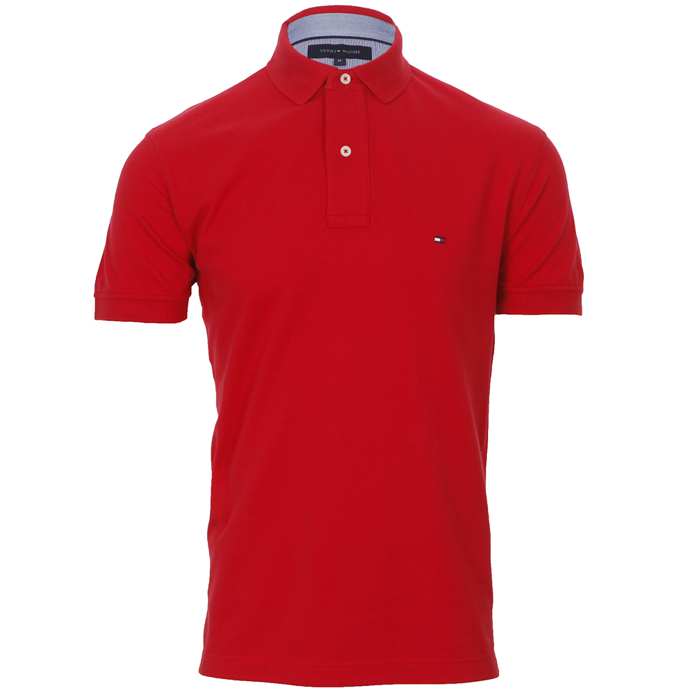 da39b013 Tommy Hilfiger Mens Red Tommy Hilfiger New Tommy Knit Polo Shirt