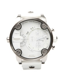 Diesel Mens White Diesel DZ7265 Little Daddy Chrono Watch