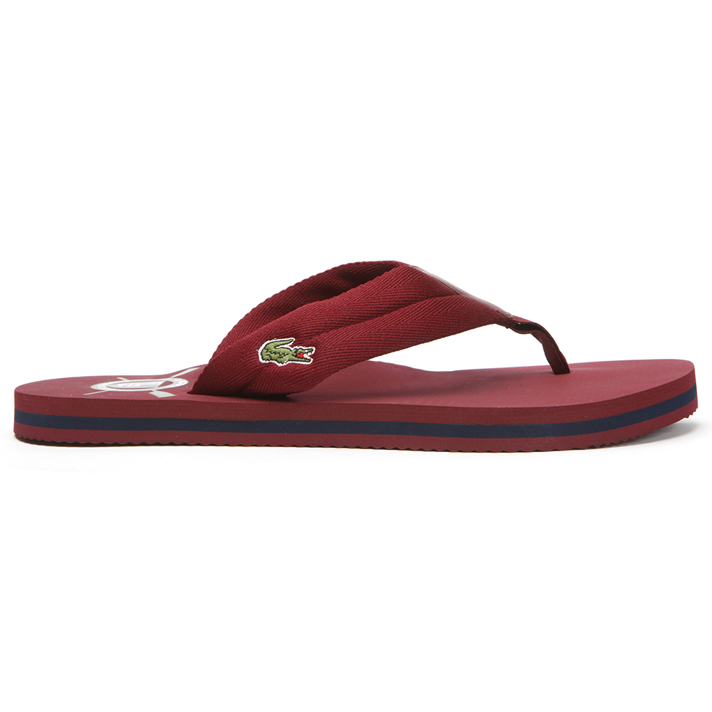 49bef9624fc28 Lacoste Randle Dark Red Flip Flop