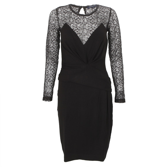 French Connection Vienna Lace Jersey Dress