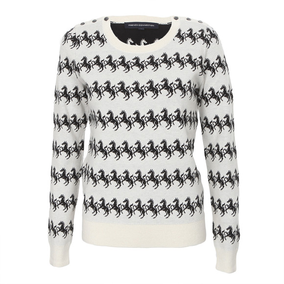 French Connection Horse Knit Crew Jumper