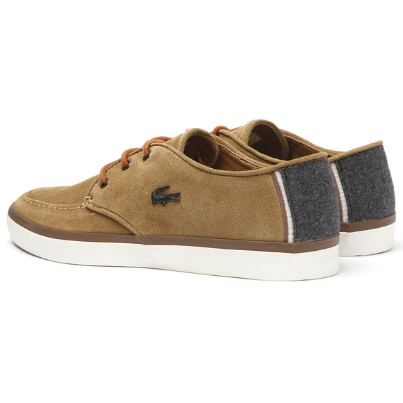 Lacoste Mens Brown Lacoste Sevrin 2 Tan Suede Shoes main image