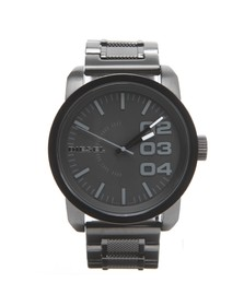 Diesel Mens Black Diesel DZ1371 Franchise 46 Large Round Metal Strap Watch