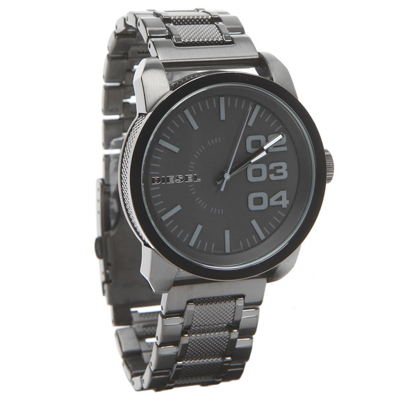 Diesel Mens Black Diesel DZ1371 Franchise 46 Large Round Metal Strap Watch main image