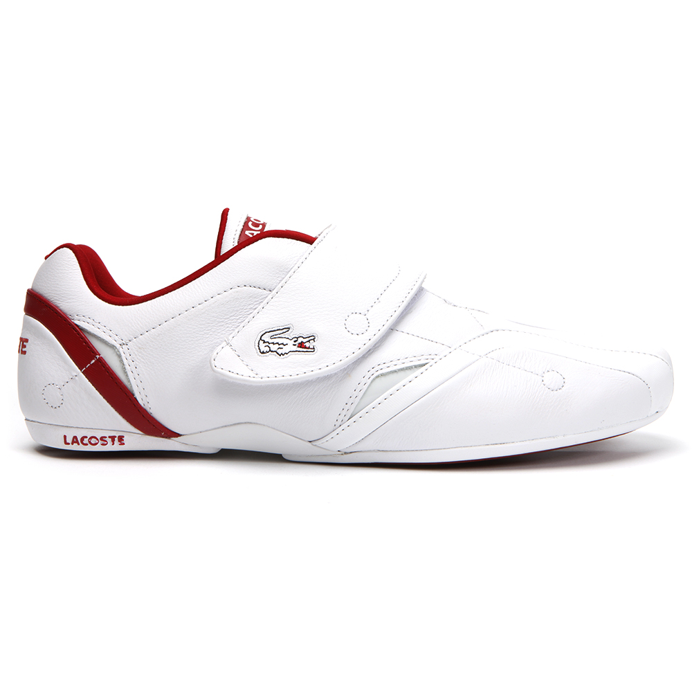 7dd1a7042b2933 Lacoste Mens White Lacoste Protect LSP SPM White Red Trainer