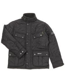 Barbour International Boys Black Boys Ariel Polarquilt