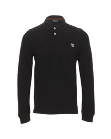 Paul Smith Jeans Mens Black Black Long Sleeve  Zebra Polo Shirt