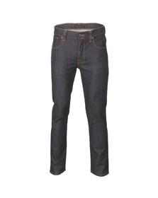 Nudie Jeans Mens Blue Grim Tim Organic Dry Navy Jeans
