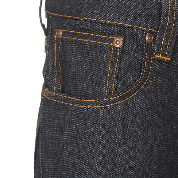 Nudie Jeans Mens Blue Grim Tim Organic Dry Navy Jeans main image
