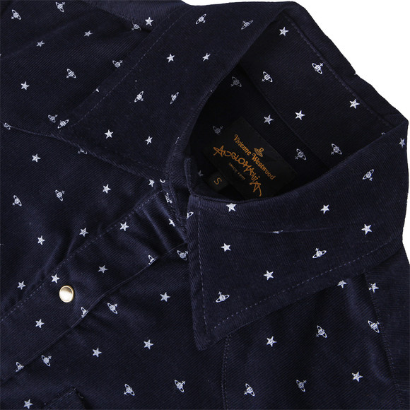 Vivienne Westwood Anglomania Womens Blue Lillie Cord Shirt main image
