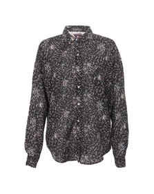 Maison Scotch Womens Black 20702 Printed Boxy Fit Shirt