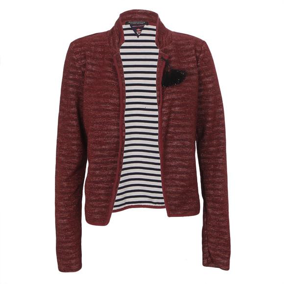 Maison Scotch Slub Jersey Blazer With Stripes