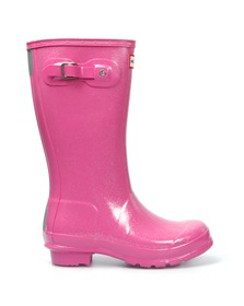 Hunter Girls Pink Original Glitter Wellington