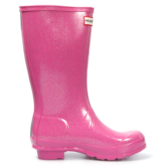 Hunter Girls Pink Original Glitter Wellington main image