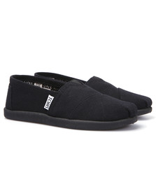 Toms Boys Black Toms Youth Classic Canvas in Black