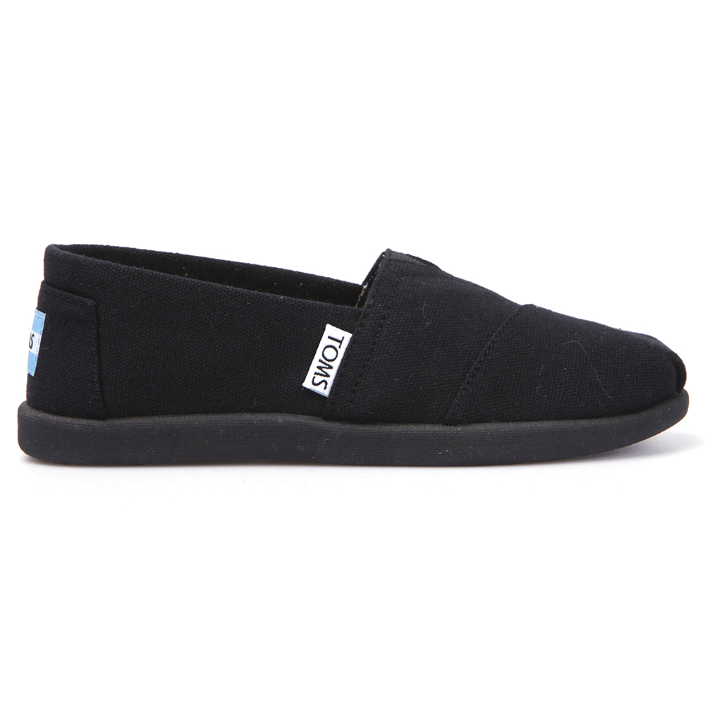 5990ef922cf Toms Boys Black Toms Youth Classic Canvas in Black