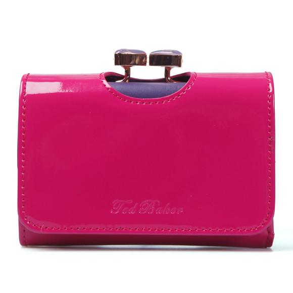 Ted Baker Womens Pink Ted Baker Lenora Bow Enamel Small Purse main image ed062b6280