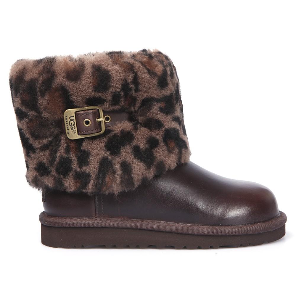 59cb01db0e9 Girls Brown Ugg Ellee Animal Boot