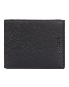 Lacoste Mens Black Lacoste Small Bi Fold Wallet