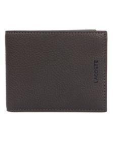 Lacoste Mens Grey Lacoste Small Bi Fold Wallet