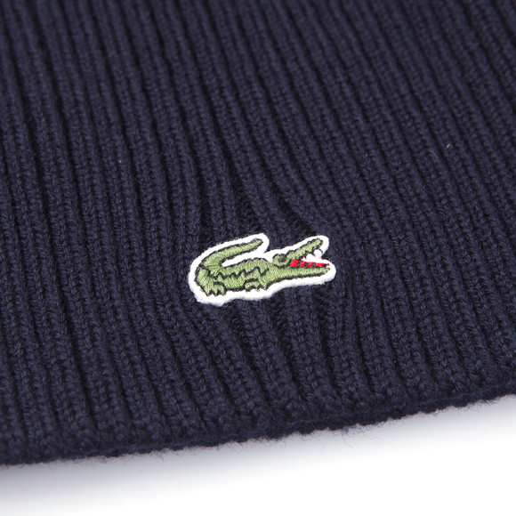 5c81e23917a Lacoste Unisex Blue RB3504 Ribbed Beanie main image