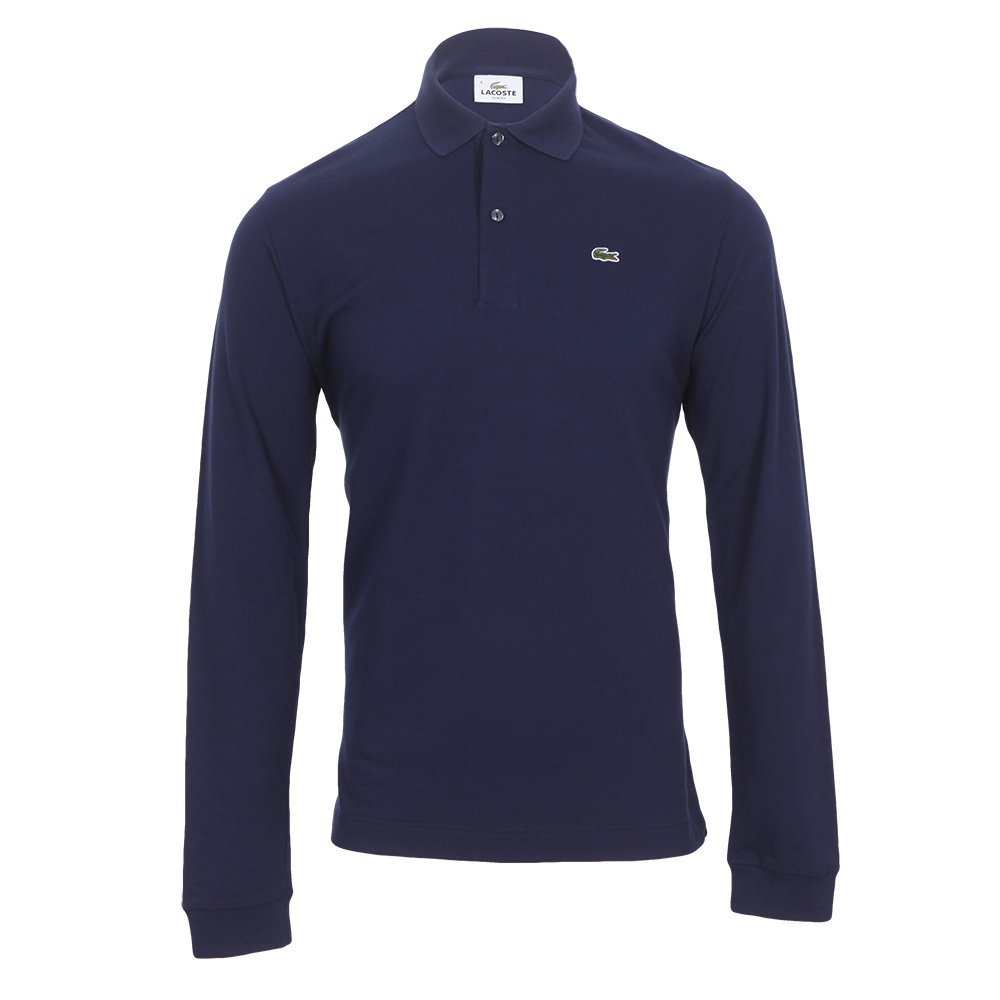 c3100c2ae97 Lacoste Mens Blue Lacoste PH5003 Marine Slim Fit Long Sleeve Polo