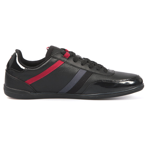 Lacoste Mens Black Lacoste Giron SPM Black/Red Trainer main image