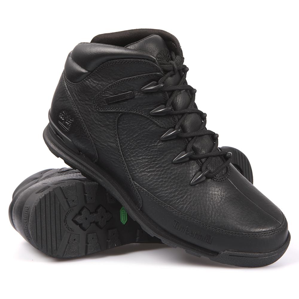 38c9a2d2854 Mens Black Timberland Euro Rock Hiker Boot