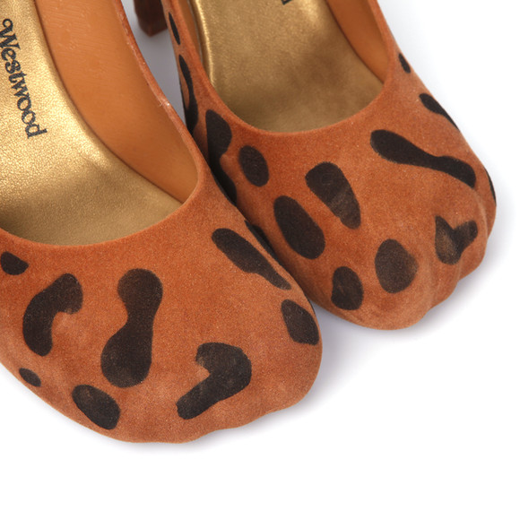 Vivienne Westwood Anglomania X Melissa Womens Beige Animal Toe Flock Shoe main image