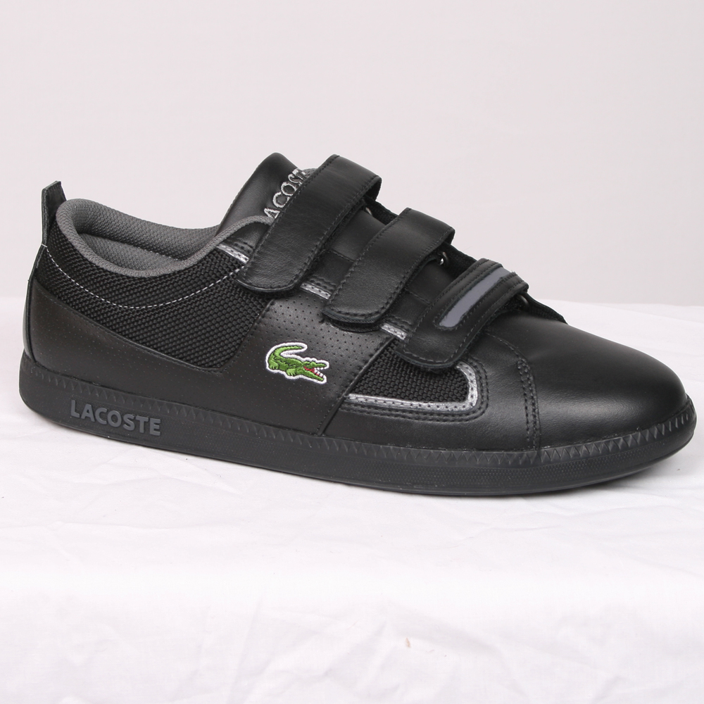 934a562662bfdf Lacoste Black Observe 2 S ET SPM Leather Trainer