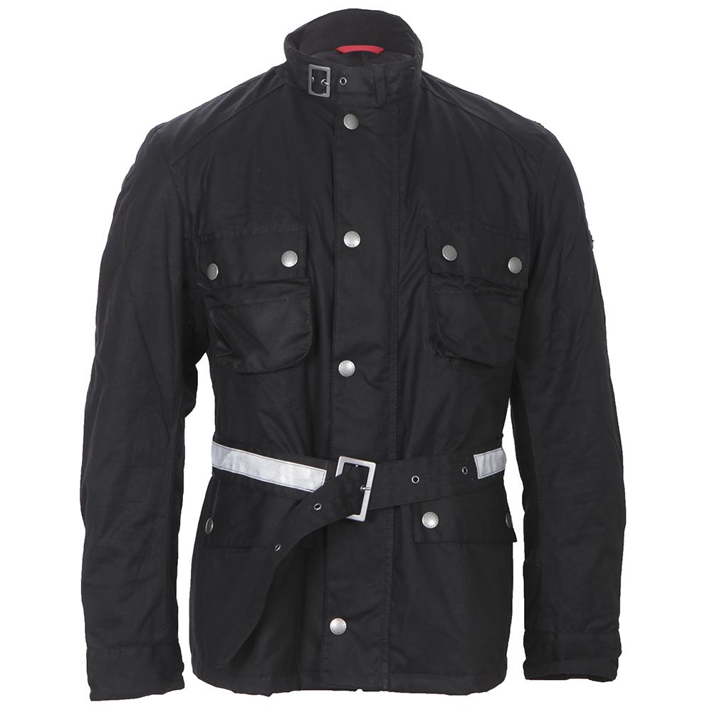 Barbour Strathdee Black Wax Jacket main image