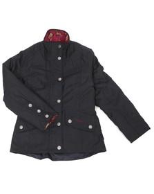 Barbour Lifestyle Girls Blue Barbour Girls Navy Ferndown Wax Jacket