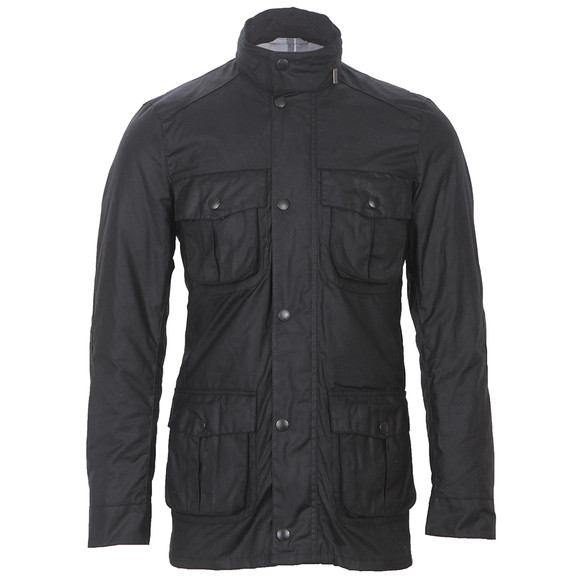 Barbour Lifestyle Mens Black Corbridge Wax Jacket main image
