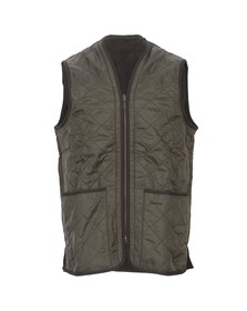 Barbour Lifestyle Mens Green Polarquilt Waistcoat/Zip In