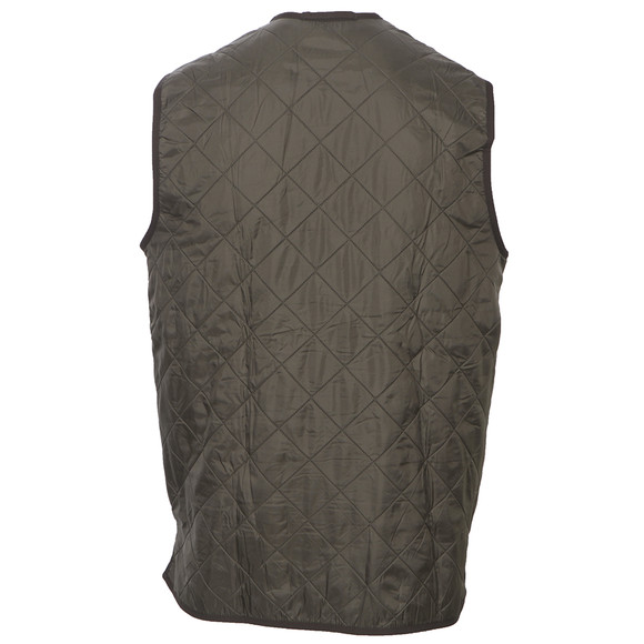 Barbour Lifestyle Mens Green Polarquilt Waistcoat/Zip In main image