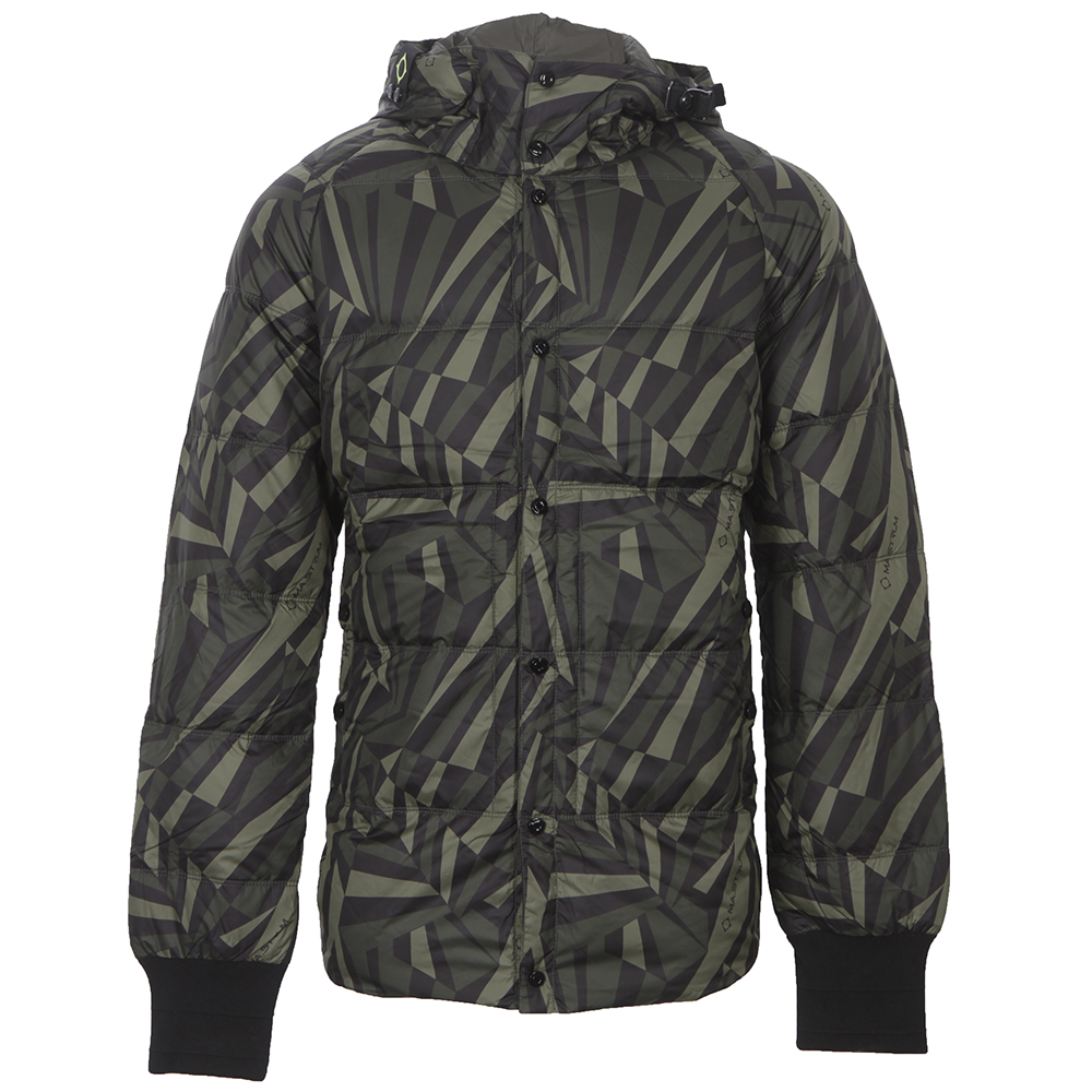 60bcb283f6196 Ma.Strum Dazzle Camo Hooded Quilted Jacket | Oxygen Clothing