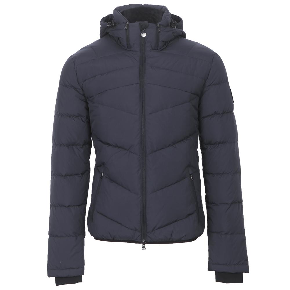 fe5da98559 Mens Blue EA7 Emporio Armani Hooded Mountain Puffer Jacket