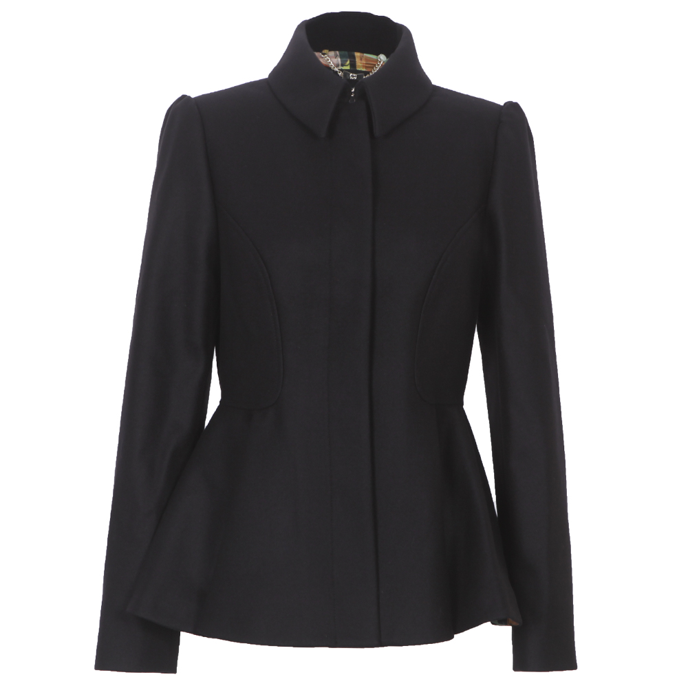 Ted baker black peplum coat